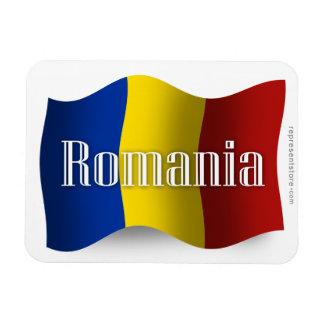 Bandera que agita de Rumania Iman Rectangular