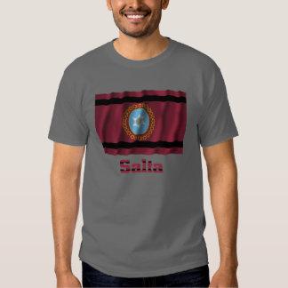 Bandera que agita de Salta con nombre Camisetas