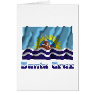 Bandera que agita de Santa Cruz con nombre Tarjeton