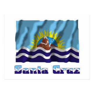 Bandera que agita de Santa Cruz con nombre Tarjetas Postales