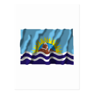 Bandera que agita de Santa Cruz Postal