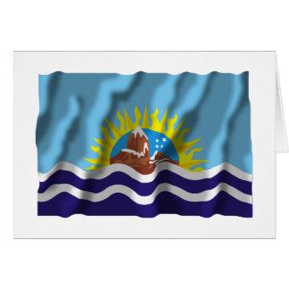 Bandera que agita de Santa Cruz Tarjeton
