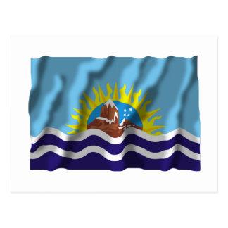 Bandera que agita de Santa Cruz Tarjeta Postal