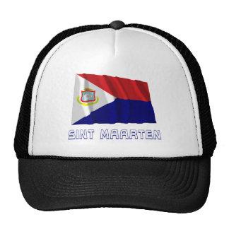 Bandera que agita de Sint Maarten con nombre Gorro De Camionero