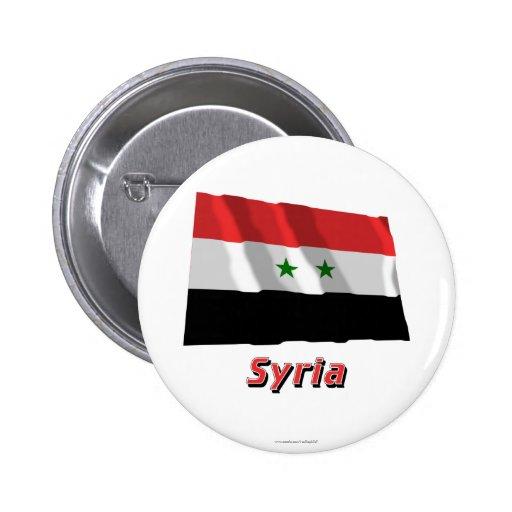 Bandera que agita de Siria con nombre Pins