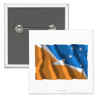 Bandera que agita de Tierra del Fuego Pin