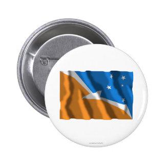 Bandera que agita de Tierra del Fuego Pins