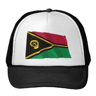 Bandera que agita de Vanuatu Gorras