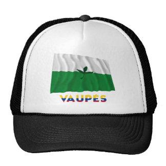 Bandera que agita de Vaupés con nombre Gorras