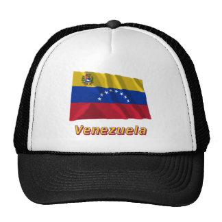 Bandera que agita de Venezuela con nombre Gorras