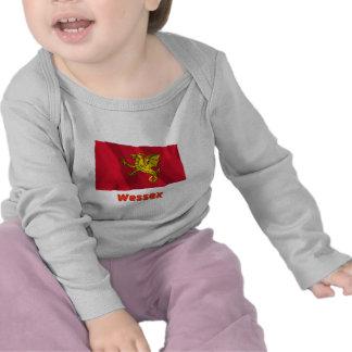 Bandera que agita de Wessex con nombre Camiseta