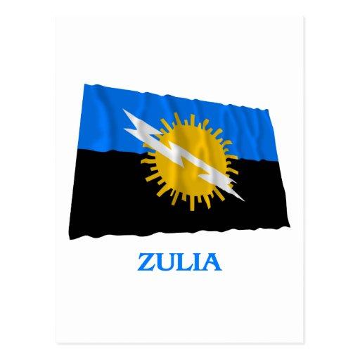 Bandera que agita de Zulia con nombre Postal | Zazzle