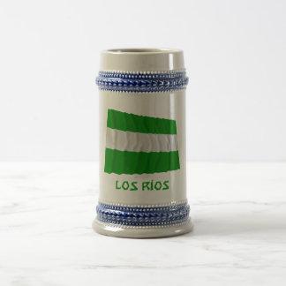 Bandera que agita del Los Ríos con nombre Jarra De Cerveza