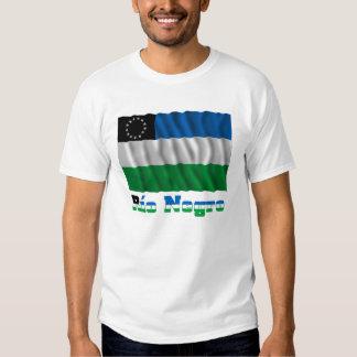 Bandera que agita del negro de Río con nombre Camiseta