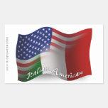 Bandera que agita Italiano-Americana Rectangular Altavoz