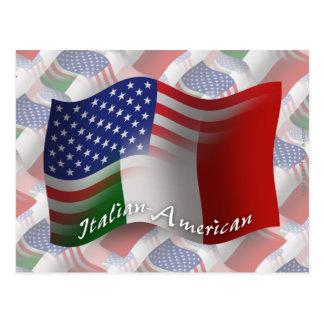 Bandera que agita Italiano-Americana Postal