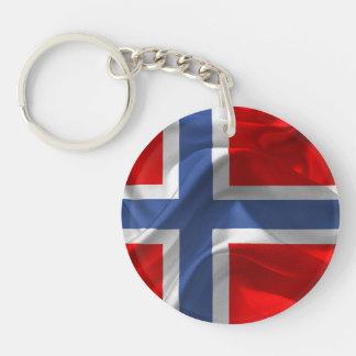 Bandera que agita noruega llavero