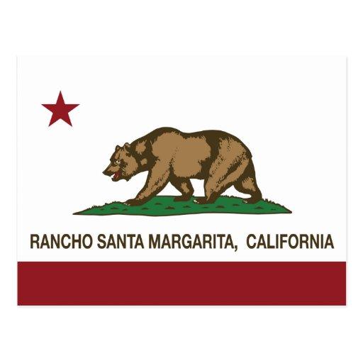 Bandera Rancho Santa Margarita del estado de Calif Tarjetas Postales