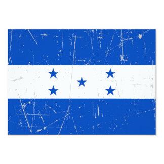 Bandera rascada y rasguñada de Honduras Invitación 12,7 X 17,8 Cm