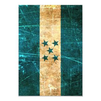 Bandera rasguñada y llevada de Honduras del Invitación 8,9 X 12,7 Cm