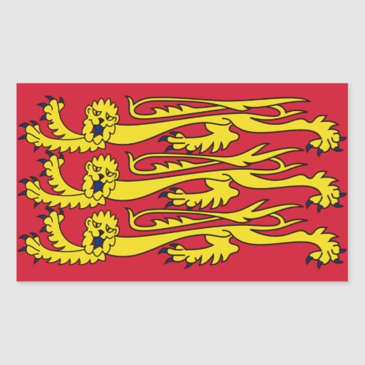 Bandera real inglesa rectangular pegatinas