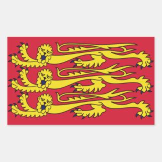 Bandera real inglesa pegatina rectangular