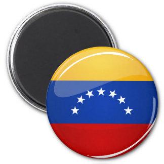Bandera redonda brillante de Venezuela Imán Redondo 5 Cm
