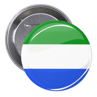 Bandera redonda brillante del Sierra Leone Chapa Redonda De 7 Cm