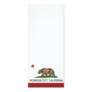 Bandera Redwood City del estado de California Invitación 10,1 X 23,5 Cm