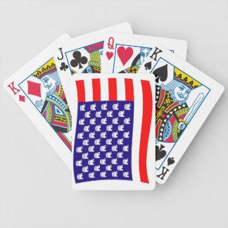 Bandera republicana de las barras y estrellas baraja de cartas bicycle