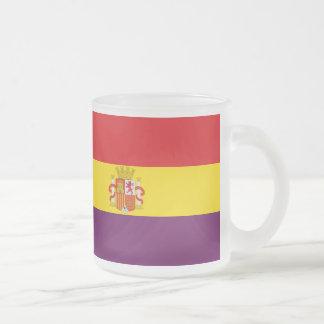 Bandera republicana española - Bandera República Taza De Café Esmerilada