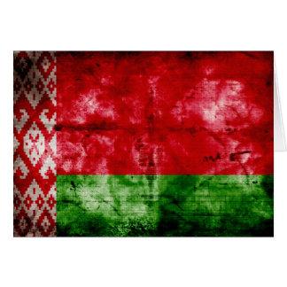 Bandera resistida de Bielorrusia Tarjeta Pequeña