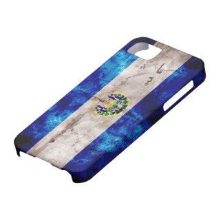 Bandera resistida de El Salvador iPhone 5 Case-Mate Carcasas