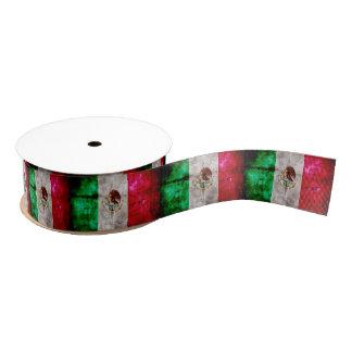 Bandera resistida de México del vintage Lazo De Tela Gruesa