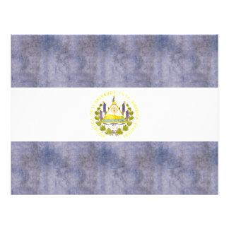 Bandera retra de El Salvador del vintage Tarjetas Informativas