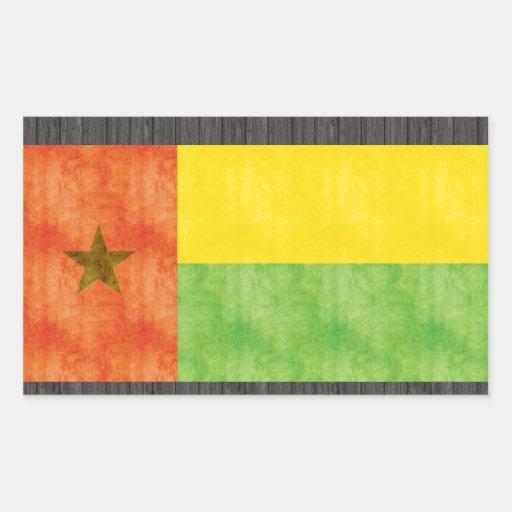 Bandera retra de Guinea-Bissau del vintage Pegatina