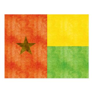 Bandera retra de Guinea-Bissau del vintage Postal