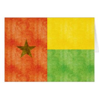 Bandera retra de Guinea-Bissau del vintage Tarjeta De Felicitación