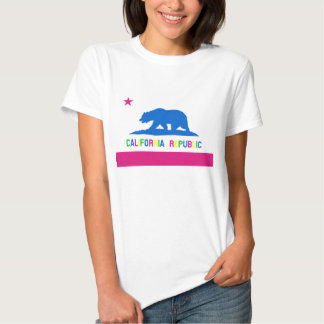 Bandera retra de la república de California del Camisetas