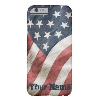 Bandera retra de los E.E.U.U. de la vieja gloria Funda Barely There iPhone 6