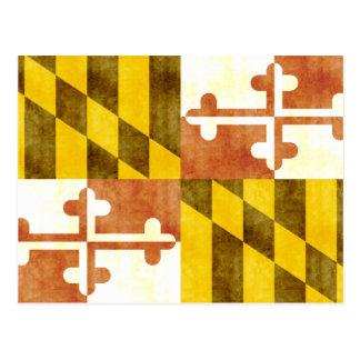 Bandera retra de Maryland del vintage Postal
