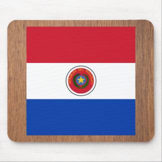 Bandera retra de Paraguay Alfombrilla De Ratón