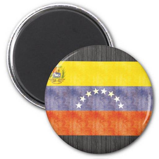 Bandera retra de Venezuela del vintage Imán
