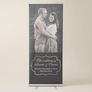 Bandera retractable de la foto de encargo del boda pancartas retráctiles