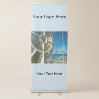 Bandera retractable vertical con la luz del faro pancarta retráctil