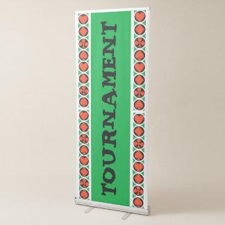 Bandera retractable vertical del CASINO de la Pancarta Retráctil
