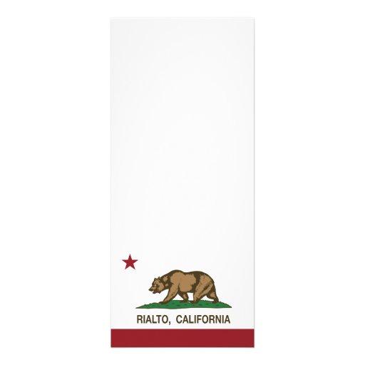 Bandera Rialto del estado de California Comunicados Personalizados