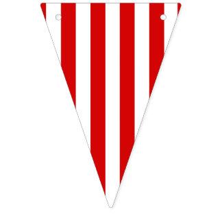 Bandera roja y blanca del fiesta de la raya