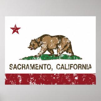 bandera Sacramento de California apenada Impresiones