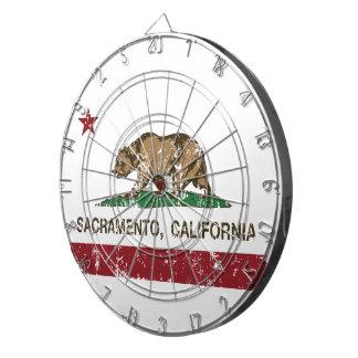 bandera Sacramento de California apenada Tabla Dardos
